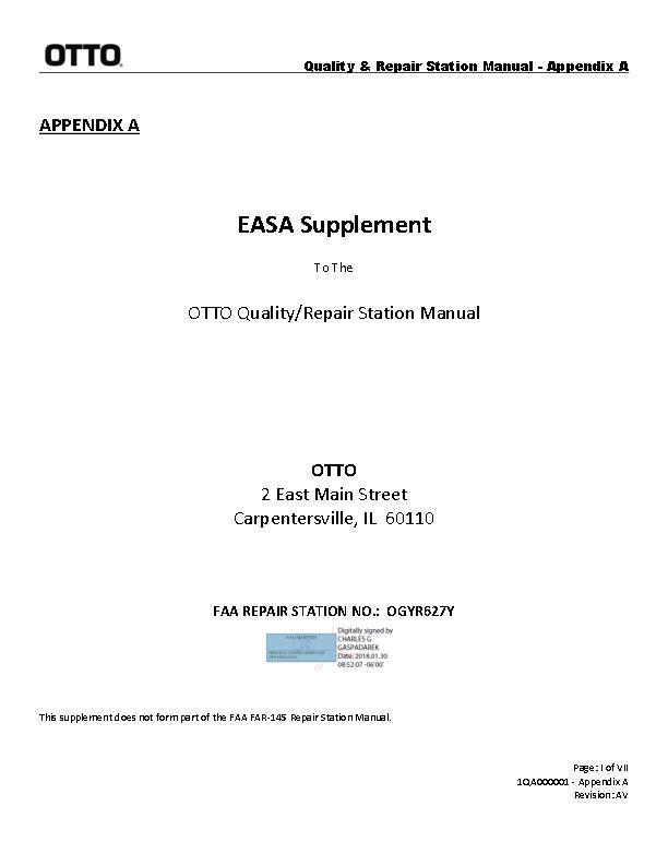 Easa manual Supplement